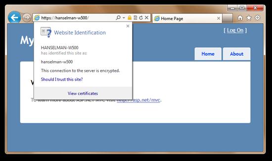 No more certificate error