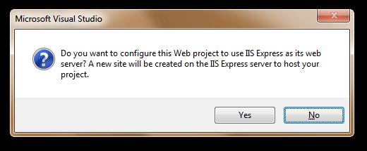 Create a new IIS Web Site?
