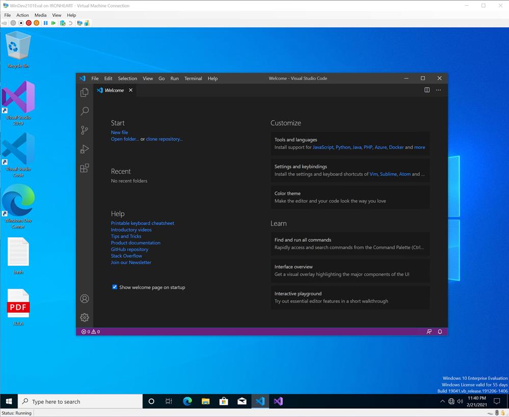 Free Windows 10 VMs