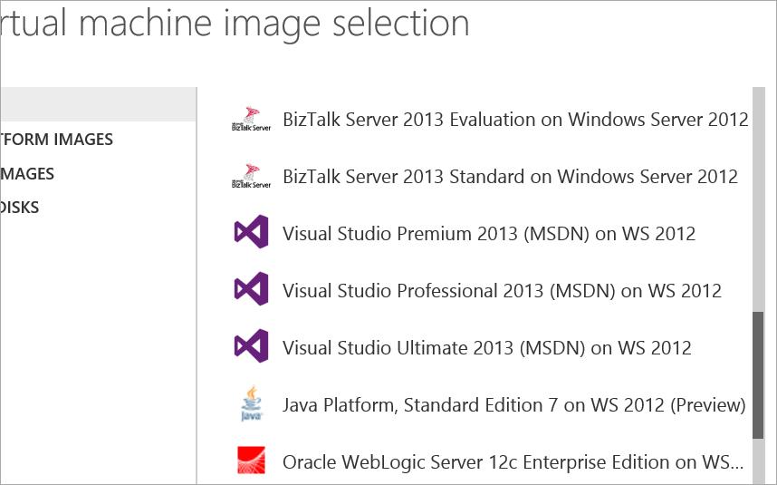 Visual Studio in Azure