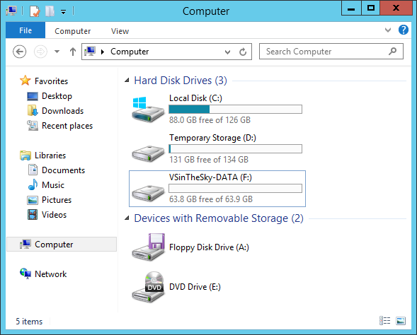 My optimized Azure VM drives