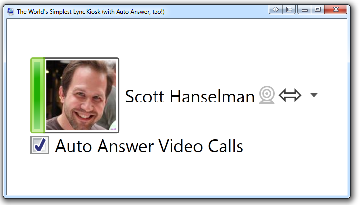 The World's Simplest Lync Kiosk (with Auto Answer, too!)