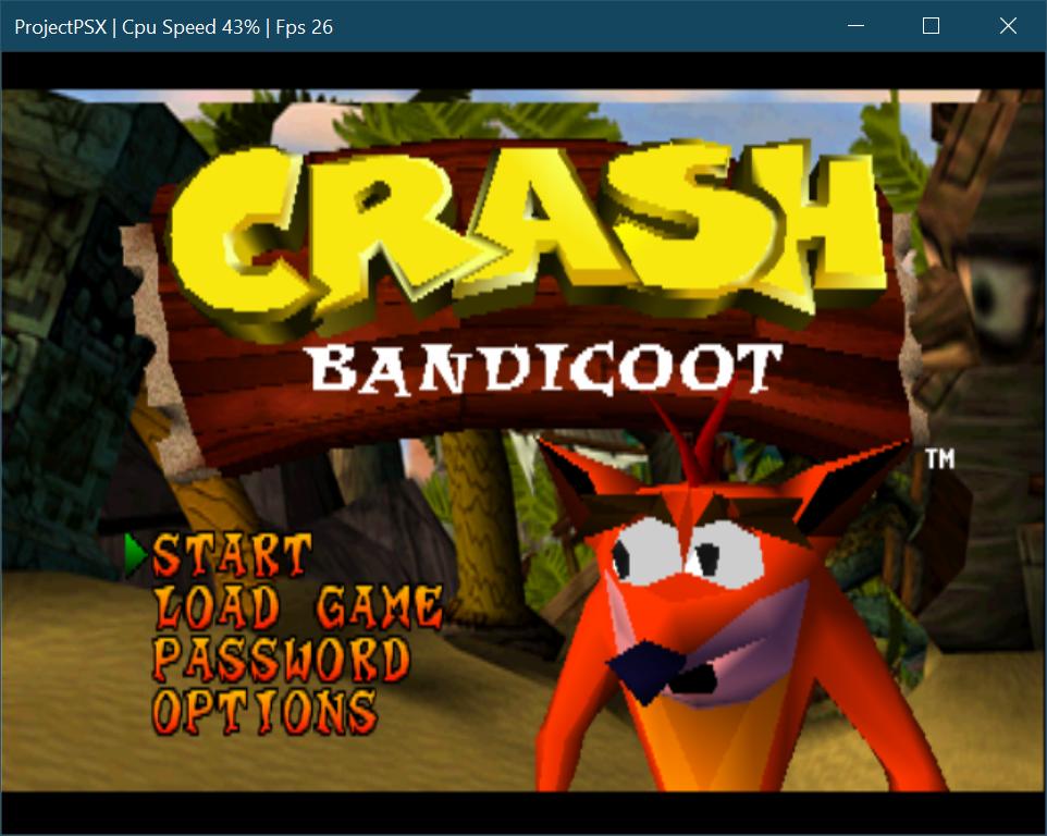 Crash Bandicoot on a C#-based PSX Emulator