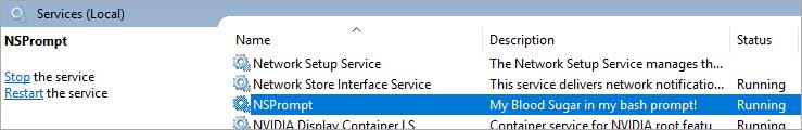 My sugar updater runs in a Windows Service