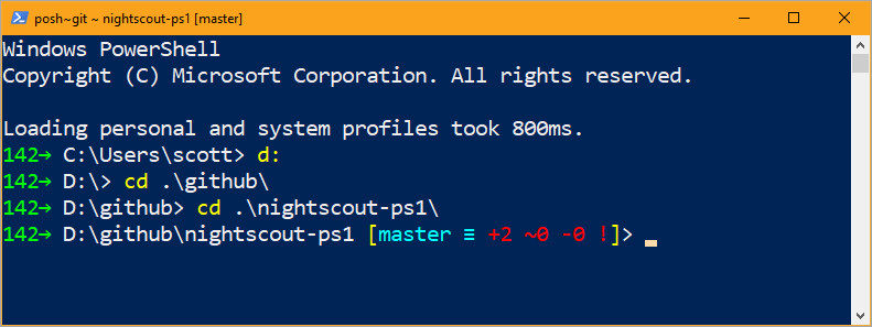 Blood Sugar and Git in PowerShell!