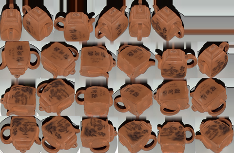 Texture Map of the Teapot from the HP Sprout Capture Stage