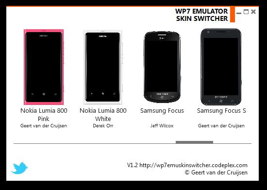 WP7 Emulator Skin Switcher