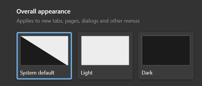 Choose your Theme, Dark or Light
