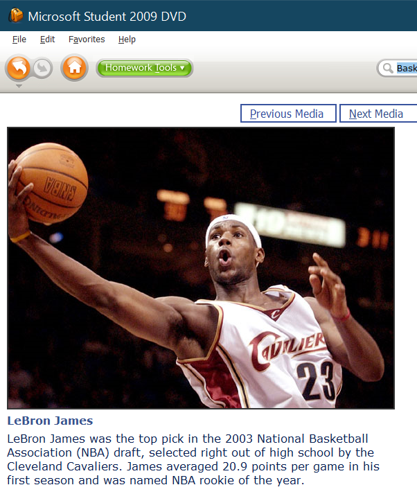 LeBron James from 2003