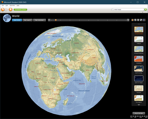 Globe in Encarta