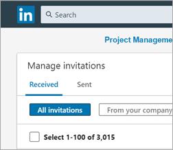 Too many LinkedIn invitations