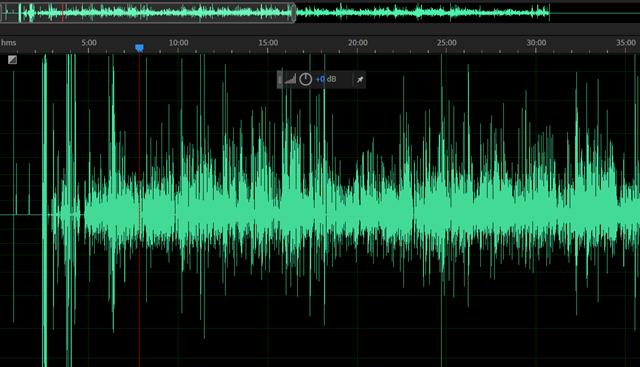 Raw audio data 1 channel