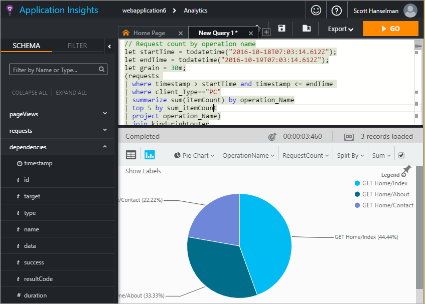 Querying Data Live