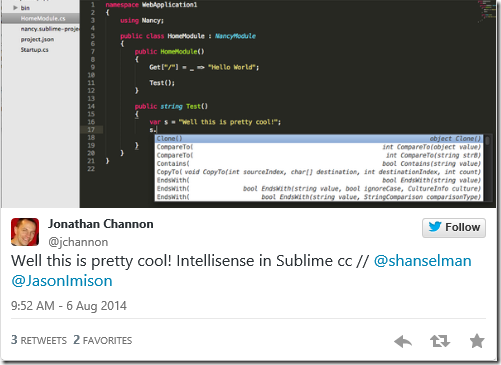 Intellisense on a Mac