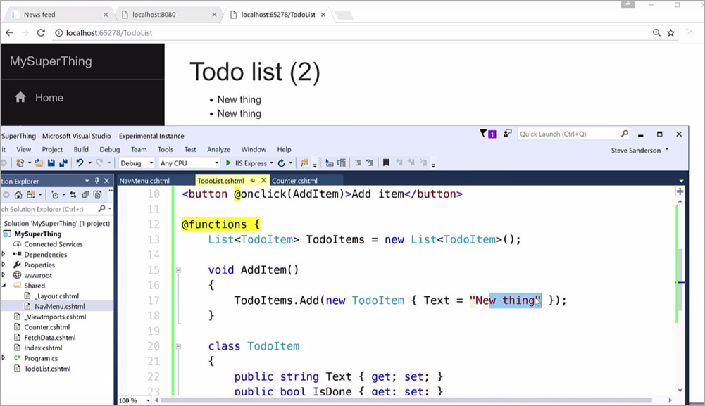 The classic JavaScript TODO app, written with C# and .NET and Blazor