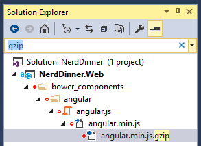 Ctrl ; will filter the Solution Explorer and open subnodes