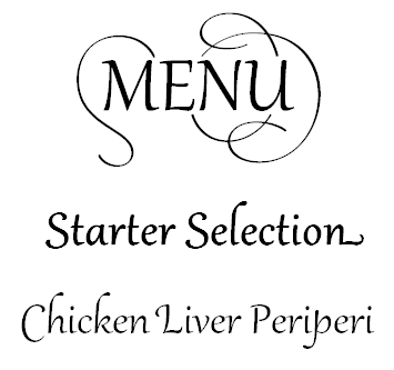 The same menu lines with a nicer stylistic set