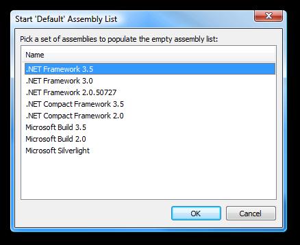 Start Default Assembly List