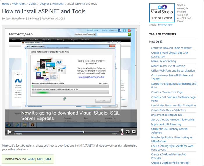 New video page includes more information and makes better use of space