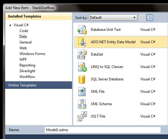 Add New Item - StackOveflow