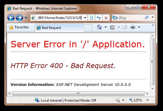 Bad Request - Windows Internet Explorer (2)