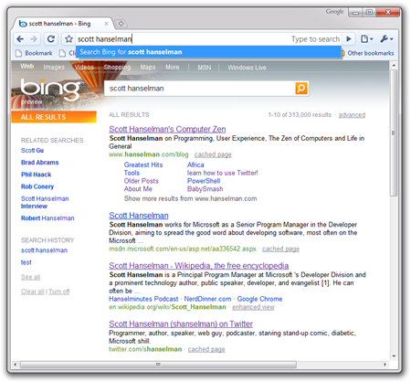 scott hanselman - Bing - Google Chrome