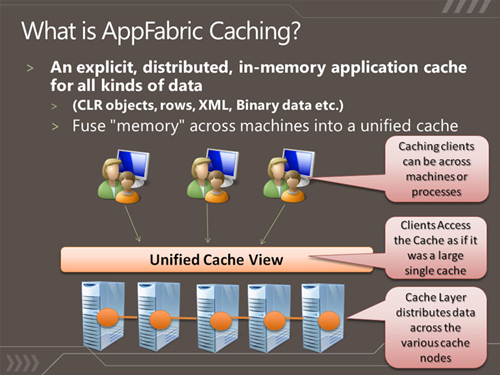 Diagram Explaining what AppFabric looks like as an architecture