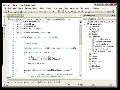 MvcMusicStore - Microsoft Visual Studio (4)