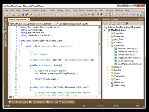 MvcMusicStore - Microsoft Visual Studio (6)