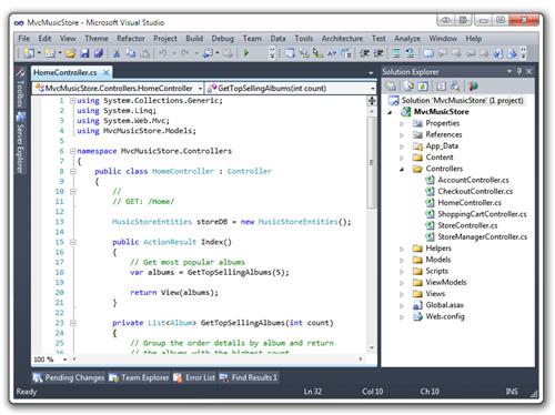 MvcMusicStore - Microsoft Visual Studio (8)