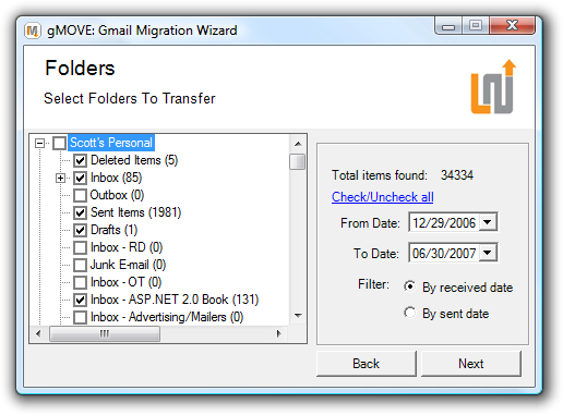 gMOVE Gmail Migration Wizard