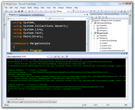 MergeConsole - Microsoft Visual Studio