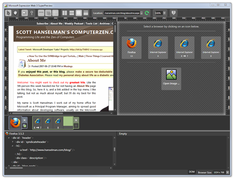 Microsoft Expression Web 3 SuperPreview (3)