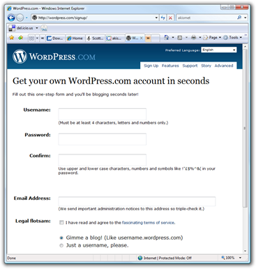 WordPress.com - Windows Internet Explorer