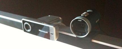 LifeCam VX-7000 and LifeCam Cinema HD side by side