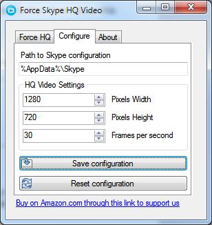 Force Skype HQ Video