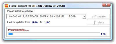 Flash Program for LITE-ON DVDRW LH-20A1H