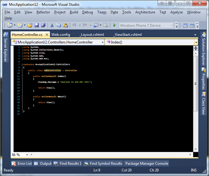 Totally unreadable small text on a black background in Visual Studio