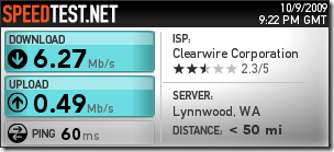 ClearWire Clear Speed Test