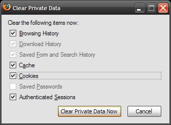 Clear Private Data (2)