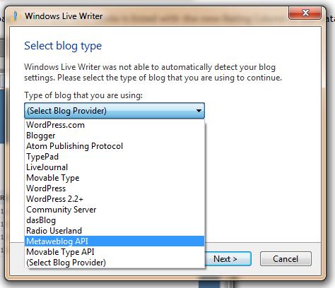 Choose a Blog Type