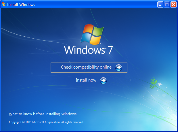 updating from xp to windows 7