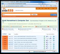 Scott Hanselmans Computer Zen - AideRSS - Windows Internet Explorer