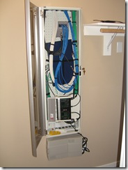 My new wiring closet door, open