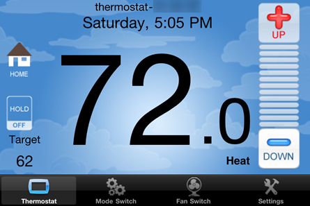 Ipod:  Filtrete Touchscreen WiFi-Enabled Programmable Thermostat